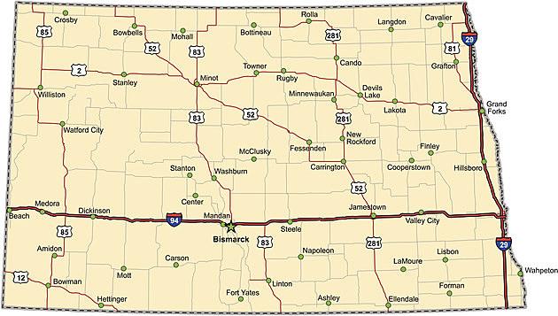 Just How Big Is North Dakota - North dakota state map