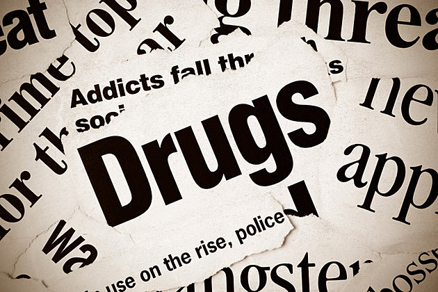 Newspaper headlines featruing articles about drugs