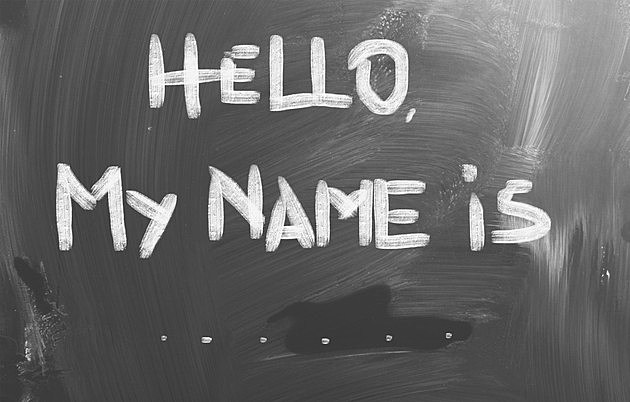 Hello My Name Is Concept